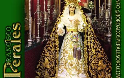 Manto bordado para Ntra. Sra. de la Soledad de Herencia en Ciudad Real.