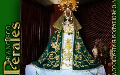 Manto bordado para la Virgen de Guadalupe Patrona de Horcajo de los Montes en Ciudad Real.
