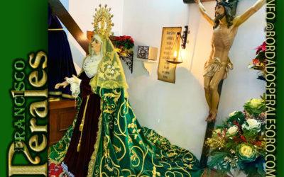 Manto bordado para Nuestra Señora de la Esperanza de la Hermandad de la Santa Vera Cruz de La Solana.