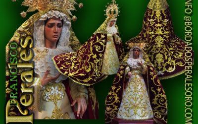 Terno completo para Nuestra Señora de la Misericordia de la Hermandad de la Oración en el Huerto de Albacete.