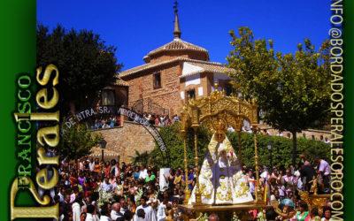 Manto bordado para la Hermandad de Ntra. Sra. del Espino patrona de Membrilla en Ciudad Real.