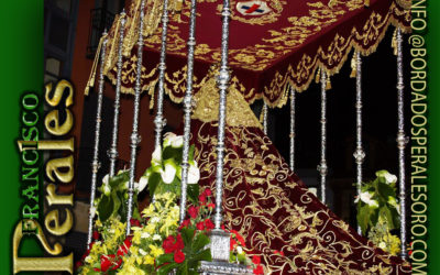 Manto bordado para la Virgen del Gran Poder en León.