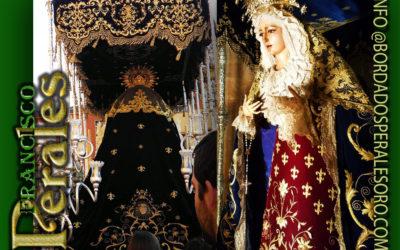 Restauración de manto de Ntra. Sra de los Dolores de la Hermandad del Rescate Linares.