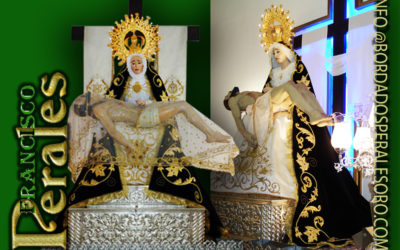 Manto bordado  para la Hermandad de la Santísima Virgen de las Angustias Patrona de Mejorada del Campo en Madrid.