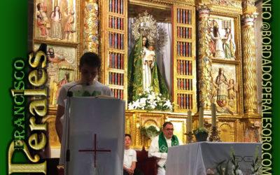 Restauración de manto bordado a mano de Nuestra Señora de las Nieves de Espinosa de los Monteros en Burgos.