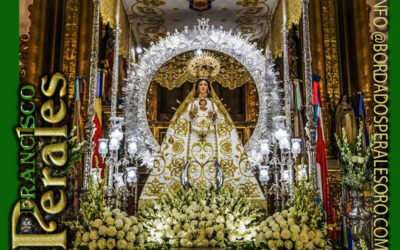 Restauración manto bordado a mano de la Virgen de la Estrella, patrona de Miguelturra.
