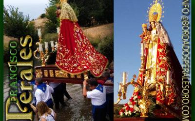 Manto bordado para la Virgen de la Fuente Patrona de Munera en Albacete.