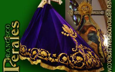 Restauración manto de Nuestra Señora de las Angustias, patrona de Navalmoral de la Mata en Cáceres.