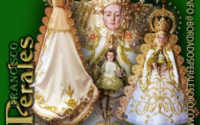 Manto bordado para la Hermandad de Nuestra Señora del Rocío de Quismodo en Toledo.