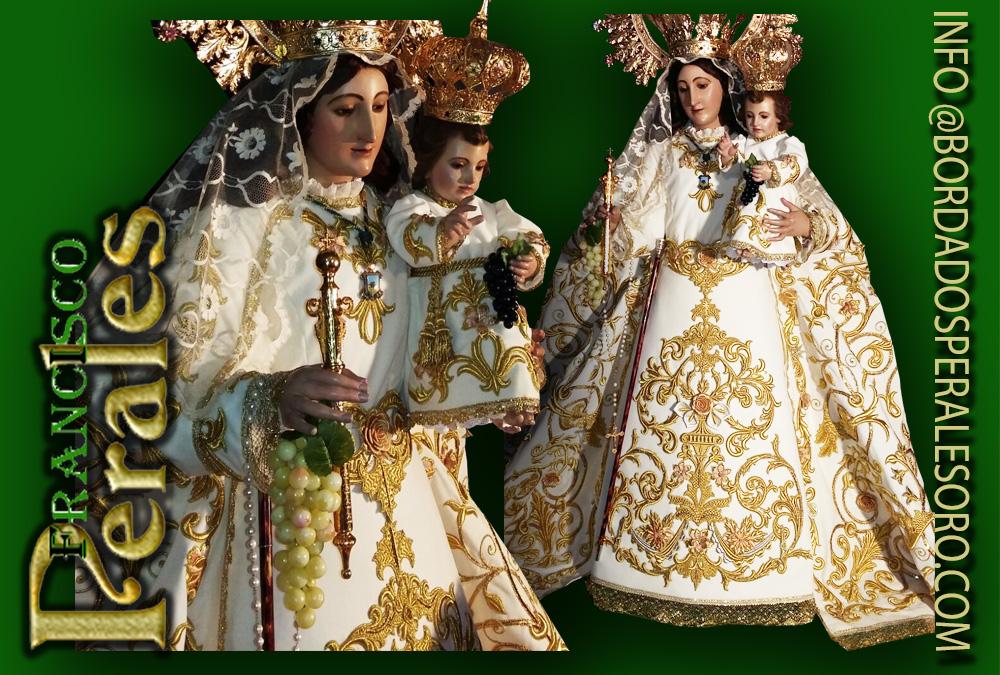 Manto Bordado Realizado Para La Hermandad De Nuestra Señora De Las Viñas De Tomelloso En Ciudad Bordados Perales Oro