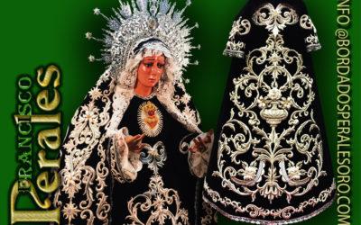 Saya bordada en plata para Nuestra Señora de Gracia y Esperanza.