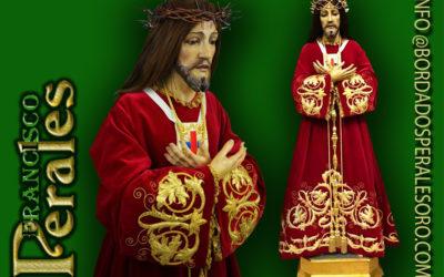 Túnica realizada para Archicofradía de la Real e Ilustre Esclavitud de Nuestro Padre Jesús Nazareno Cristo de Medinaceli de Aranjuez en Madrid.