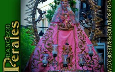 Restauración manto de la Virgen de la Salud en Toledo.