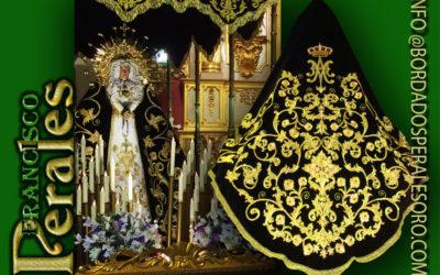 Manto bordado para la Hermandad de Nuestra Señora de los Dolores de Valmojado.