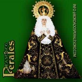 NOVEDAD Restauración de manto Nuestra Señora de la Soledad de Corral de Almaguer.