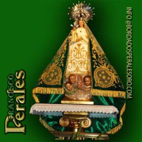 NOVEDAD Restauración de manto de Nuestra Señora de Alarilla, patrona de Fuentidueña de Tajo.
