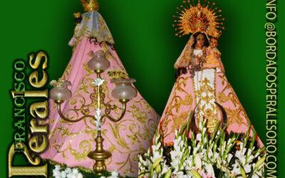 Manto bordado para la Hermandad Nuestra Señora Del Villar de Villarrubio.
