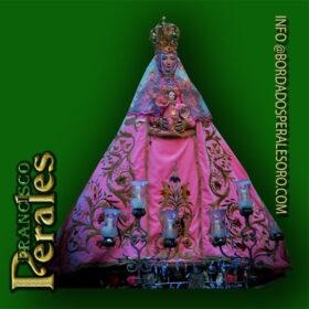 NOVEDAD Restauración manto de la Virgen de la Salud en Toledo.