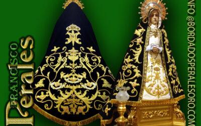 Manto bordado para Nuestra Señora la Virgen de la Soledad de Villar del Olmo.