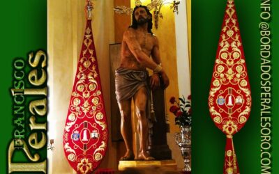 Bacalao bordado para la Hermandad y Cofradía de Nazarenos del Santísimo Cristo Atado a la Columna y María Santísima de las Lágrimas y del Consuelo de Alcalá de Henares.