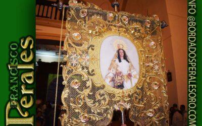 Simpecado realizado para Nuestra Señora del Castillo Patrona de Cabezamesada en Toledo.