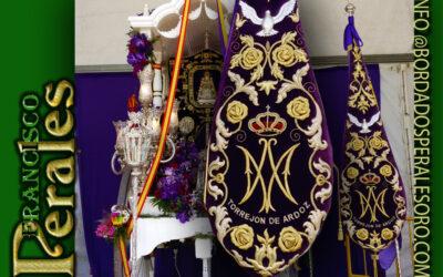 Bacalao bordado para la Hermandad de Nuestra Señora del Rocío de Torrejón de Ardoz en Madrid.
