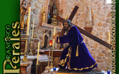 Túnica realizada para Nuestro Padre Jesús Nazareno del Buen Silencio de Villamanta.