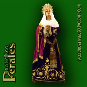NOVEDAD Restauración Túnica para María Magdalena de la Hermandad de Nuestra Señora de la Soledad de