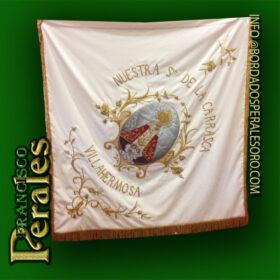 Restauración Bandera Hermandad Nuestra Señora de La Carrasca Patrona de Villahermosa.
