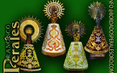 12 de octubre virgen del pilar, mantos bordados en oro Palma de Mallorca.