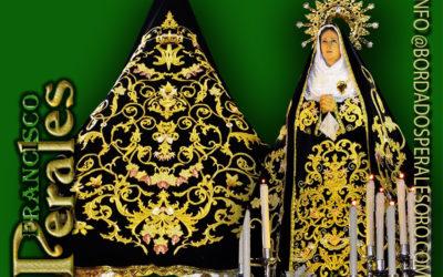 Manto bordado realizado para la Hermandad de la Ntra. Sra. de la Soledad de Quintanar de la Orden en Toledo.