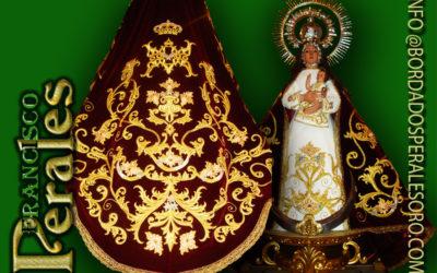 Manto bordado realizado para la Patrona de Tomellosa de Guadalajara.
