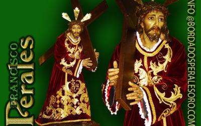 Túnica realizada para Nuestro Padre Jesús Nazareno con la Cruz a Cuestas del Monasterio De Las Carmelitas Descalzas De La Purísima Concepción de Alcalá de Henares.