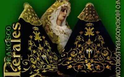 Manto bordado para Nuestra Señora de la Soledad de Picón en Ciudad Real.