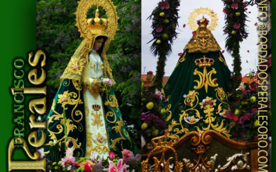 Manto bordado para la Hermandad de Nuestra Señora de la Esperanza Virgen de Valdemorillo en Madrid.