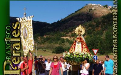 Manto bordado para Nuestra Señora de la Vega, Patrona de Valfermoso de Tajuna en Guadalajara.