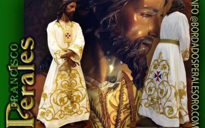 Túnica realizada para Nuestro Padre Jesús Cautivo de Rus en Jaén.