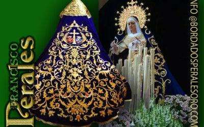 Manto bordado para María Santísima de la Victoria de Villarrobledo.