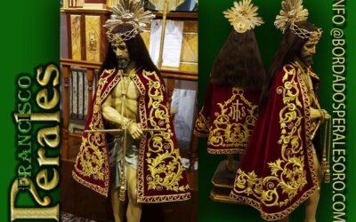 Capa bordada para la Cofradía del Stmo. Cristo de la Humildad de Las Pedroñeras.